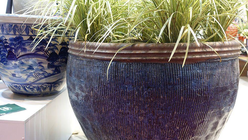 Alguns dos vasos mais lindos são da Cia das Folhas. Olha esse aqui, além do trabalho o tamanho é espetacular!