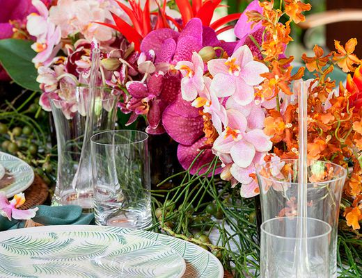 mesa de almoco tropical para praia 1