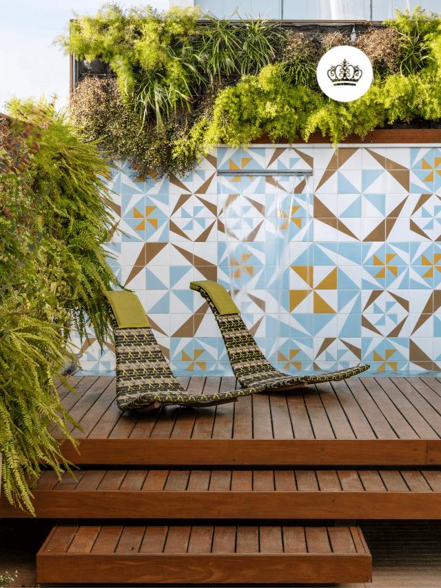 Cobertura duplex com azulejos