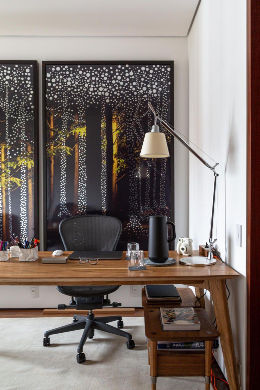 home office com duas estações de trabalho