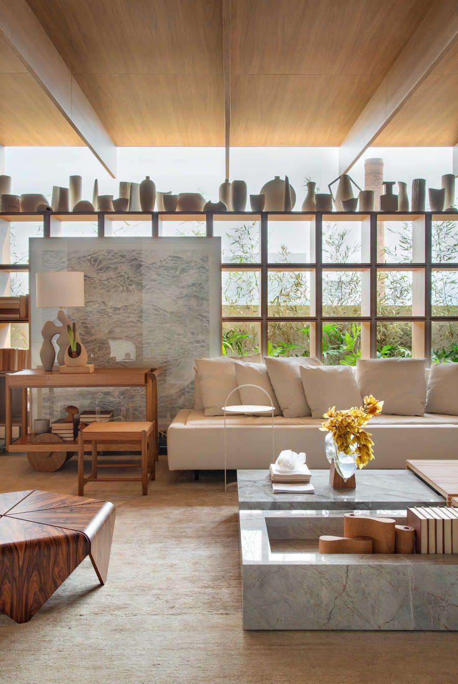 Casa com porcelanato na CasaCor 2021